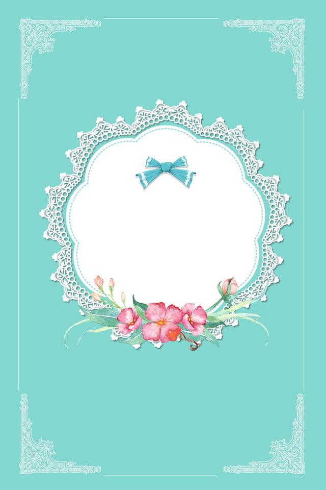 Lace Border Tiffany Premium Blue Poster Tiffany Blue Senior Blu