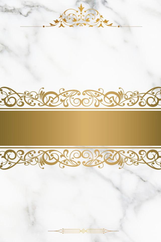 Wedding Background Marble Shading Simple Golden Border