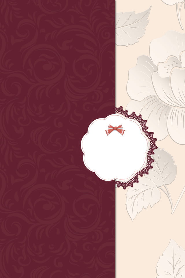 Wedding Invitation Background Red Synthesis Festive High