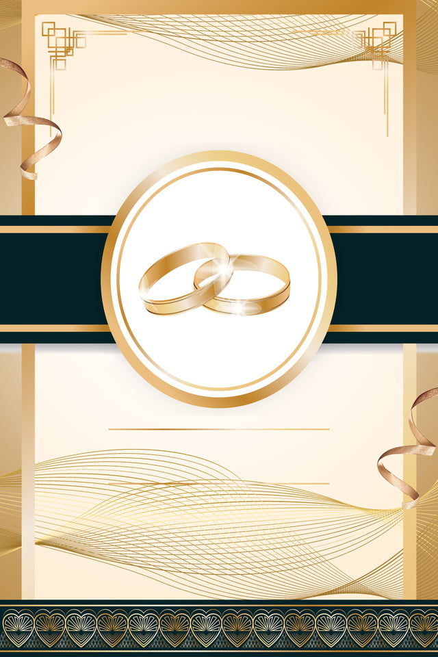 Wedding Invitation Card Gold Ad Invitation Background