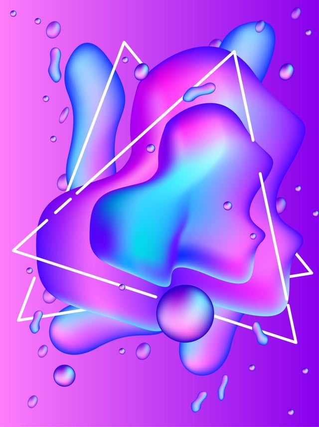 3d Water Drop Triangle Gradient H5 Background, 3d Water Droplets