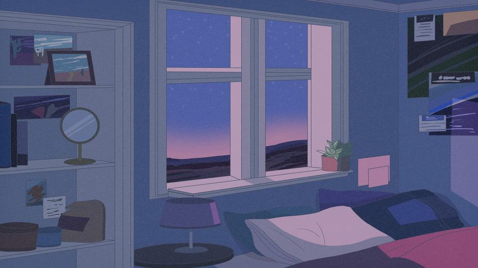 Disegno Di Sfondo Notte Camera Da Letto, Sfondo Romantico ...