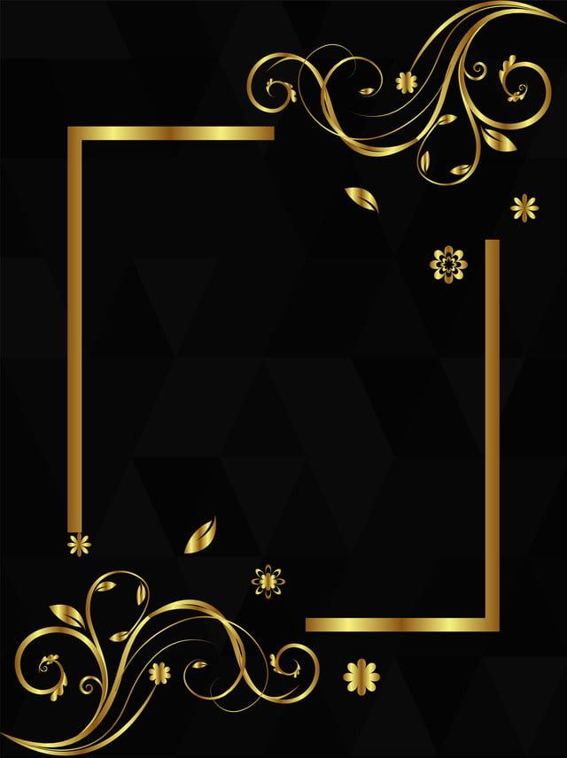 black gold style minimalist creative background design