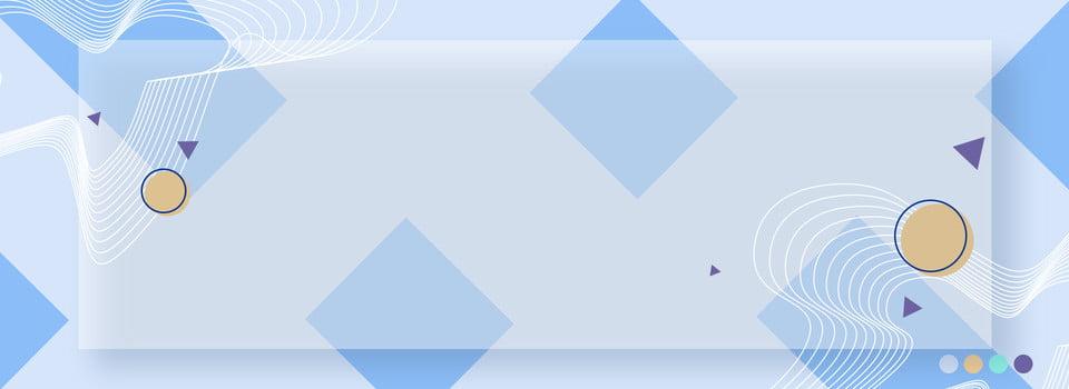 Bandiera Minimalista Blu Trasparente Di Memphis Linea Blu Semplice