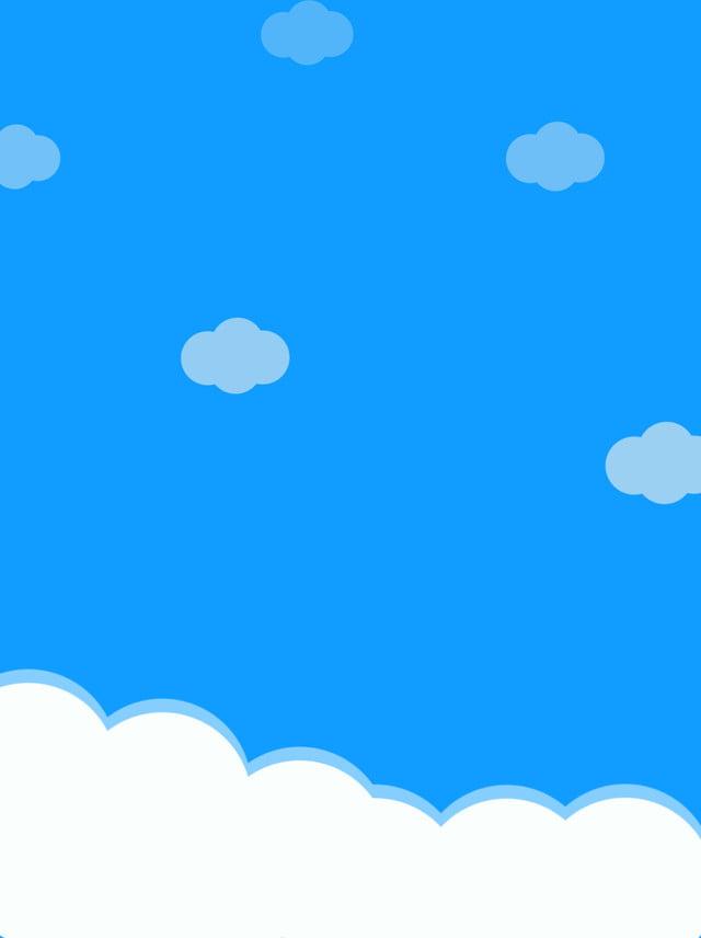 Ceu Azul Dos Desenhos Animados Com Fundo Nuvens Brancas Ceu Azul