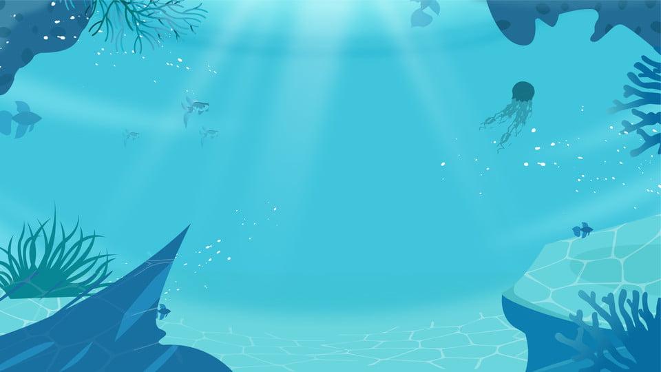 Fundo De Mergulho Subaquatico Azul Fresco Dos Desenhos Animados Desenho Animado Azul Mergulho Imagem De Plano De Fundo Para Download Gratuito