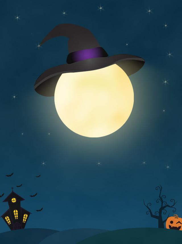 Material De Fundo Cartaz Halloween Preto Noite Dos Desenhos