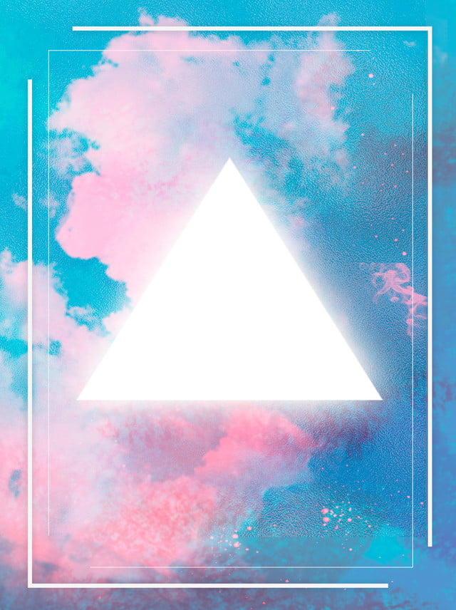 Colored Minimalistic Glowing Triangles Background, Color, Simple