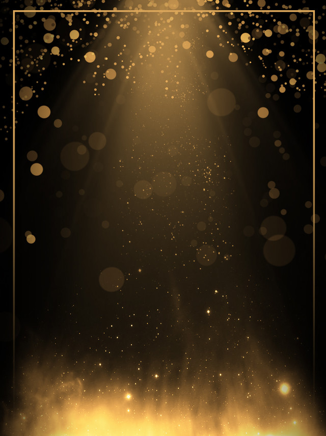 Creative Aesthetic Black Gold Light Effect Background Creative