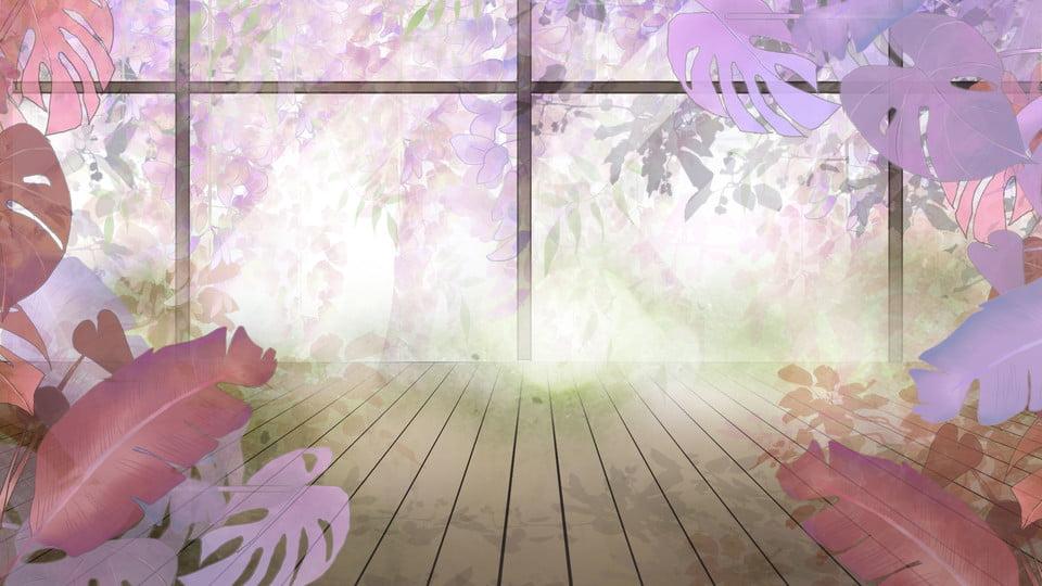Floortoceiling Windows Colorful Mosaic Sunny Floor Cartoon