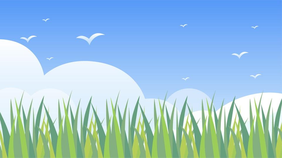 Ceu Azul Fresco Nuvens Brancas Dos Desenhos Animados Criancas