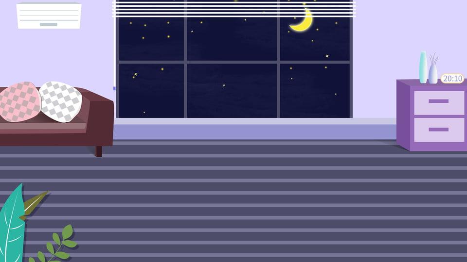 Fresh Night Living Room Advertising Background Home Hand