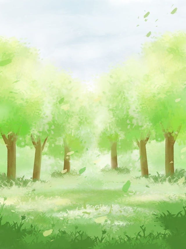 Full Aesthetic Hand Painted Woods Forest Illustration Poster