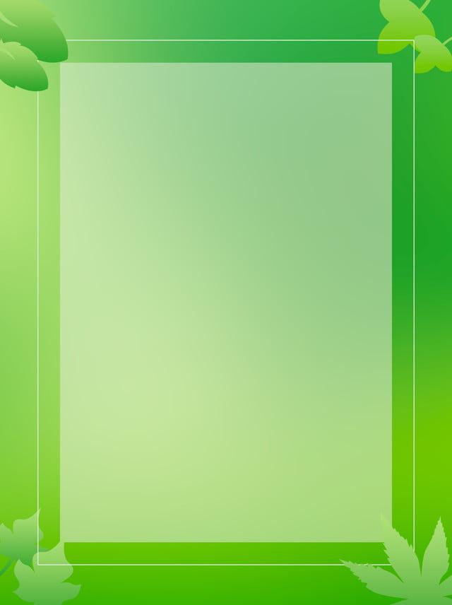 Verde Foglia Quadrato Semplice Sfondo Sfumato Foglia Verde Abbozzo