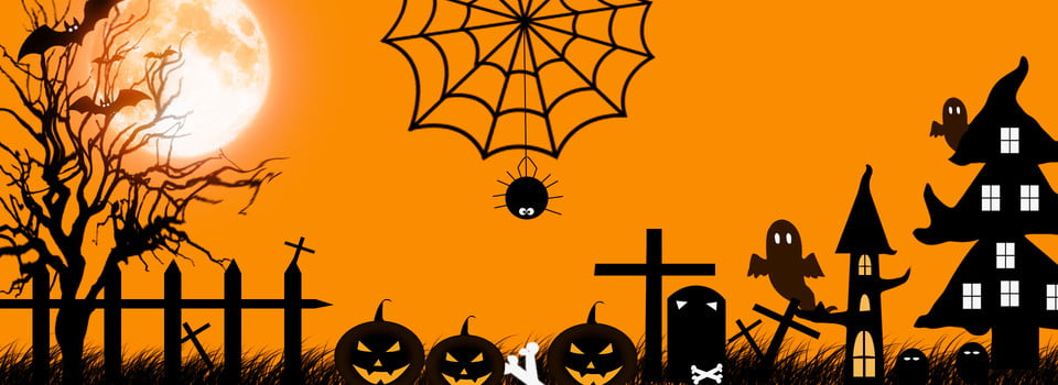 Halloween Banner Background, Halloween, Terror, Pumpkin Lantern Background  Image for Free Download