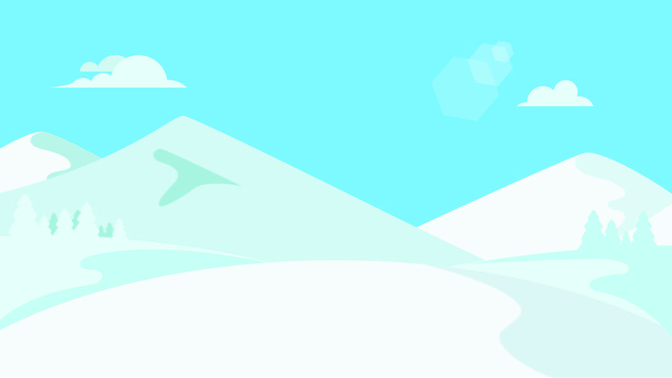 無料ダウンロードのための手描き雪山イラストポスターの背景 手描き 単純