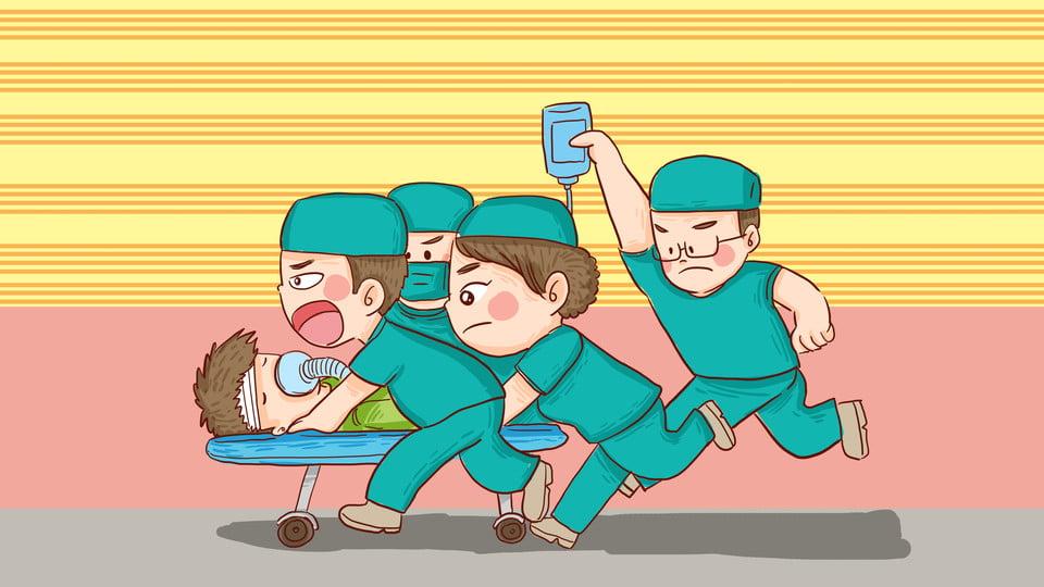 Paciente De Primeros Auxilios Médico Enfermera Dibujos