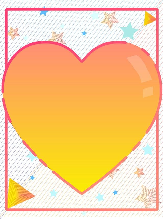 Fond de couleur chaude photo valentine coeur dégradé forme ...