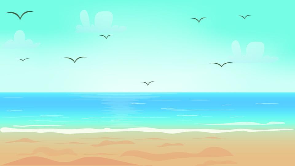Illustrazione Di Spiaggia Semplice E Bella Semplice Bello Spiaggia