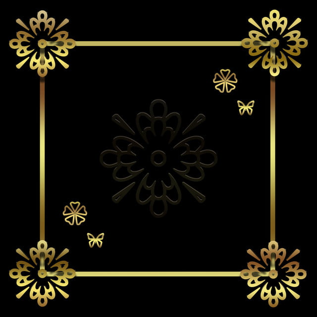 Simple Black Gold Wind Creative Pattern Background Material