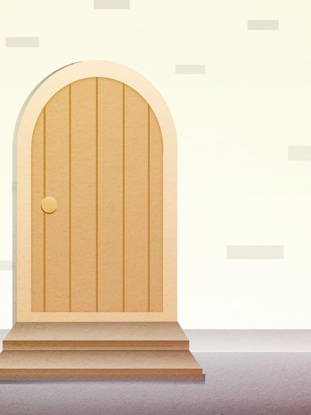 материал простой деревянной двери для дома трап арочный