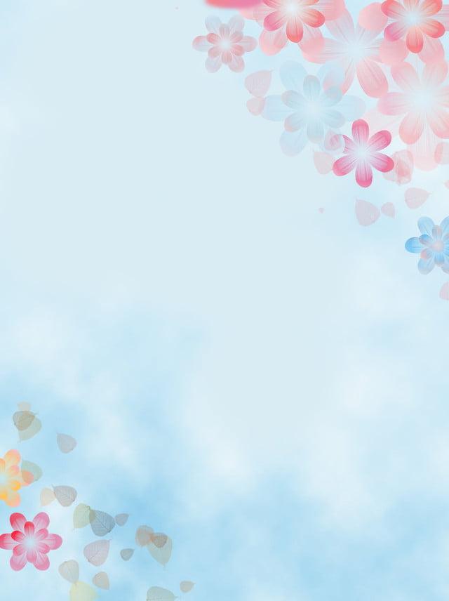 Soft Pastel Flower Style Minimalist Background Soft