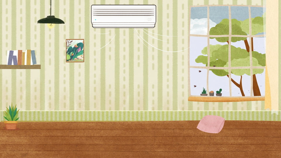 Summer Home Indoor Air Conditioning Background Material, Home, Air  Conditioning, Simple Background Image For Free Download