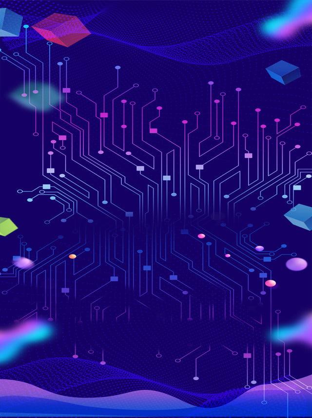 Symphony Geometric Blue Business Technology Electronic