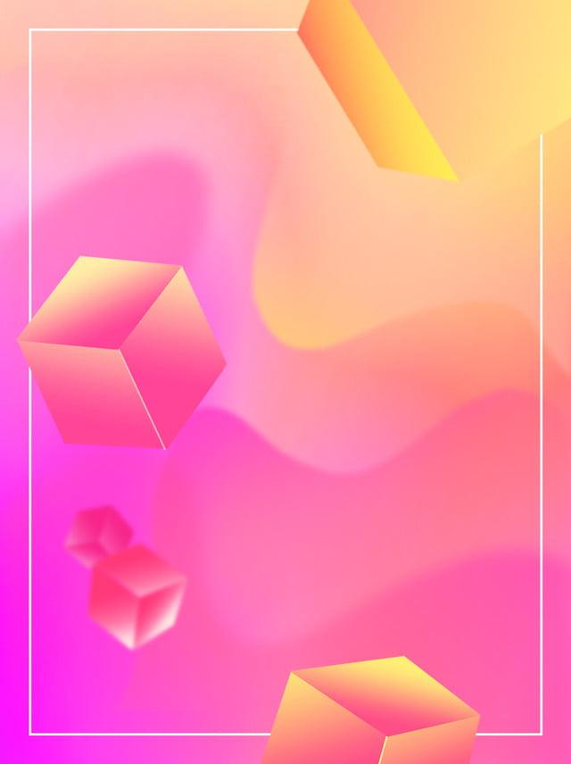 Couleur Chaude Fond Dégradé Cube Créatif En Trois Dimensions ...