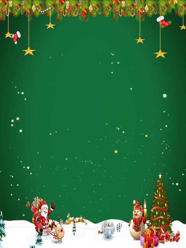 Green Day Christmas.Atmospheric Green Christmas Propaganda Board Background