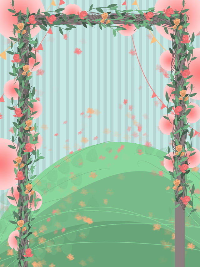 Beautiful Flower Frame Wedding Ceremony Background Design Wedding Background Wedding Scene Flower Stand Background Image For Free Download