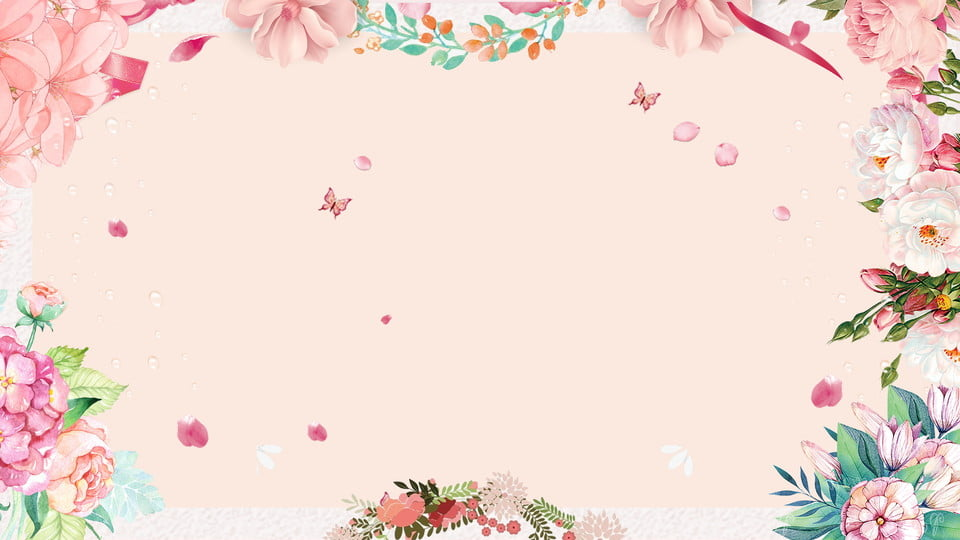 Beautiful Petal Plant Wedding Background Design Pink