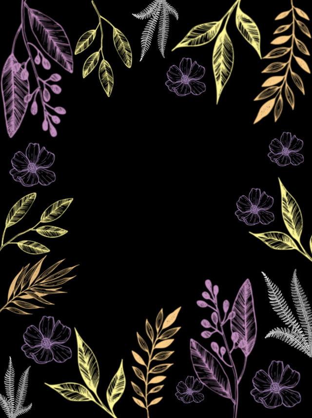 Illustration De Fond Plante Noir Spécimen De Plante Dessin