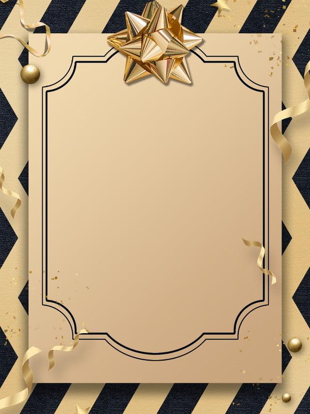 Black Gold Fashion Invitation Background Display Board Gold