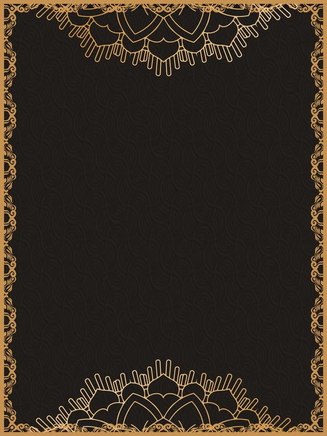 Black Gold Texture Invitation Background Design, Black Gold