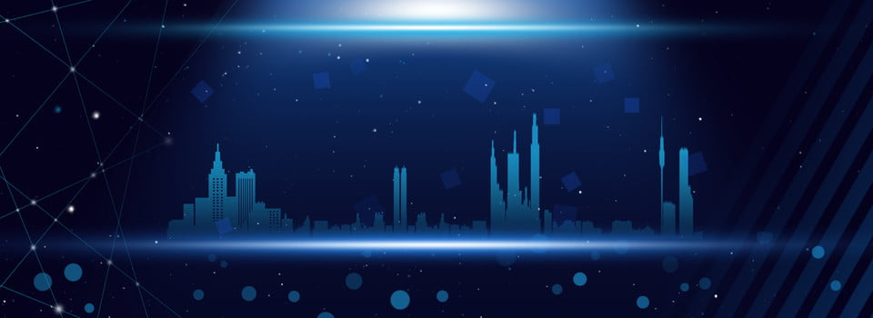 Blue Cool Tech Smart City Background Technology City Blue Background Image For Free Download