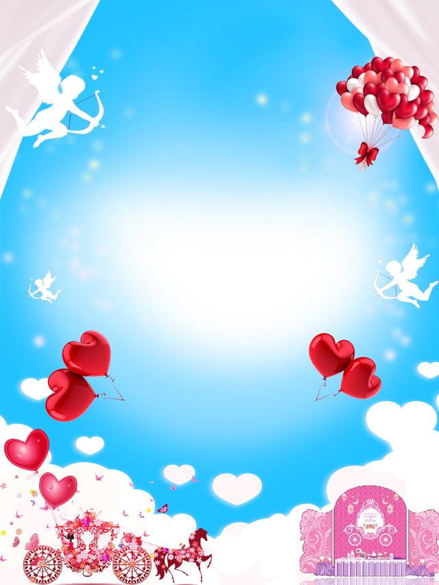 Blue Gradient Minimalistic Wedding Invitation Background