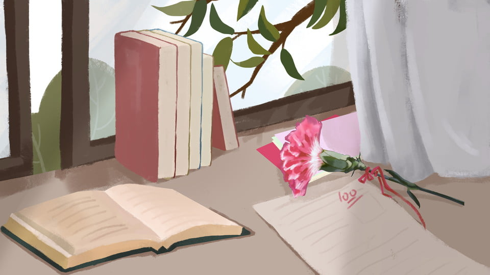 Prenota Materiale Di Sfondo Fiore Sul Desktop Desktop Libro Garofani