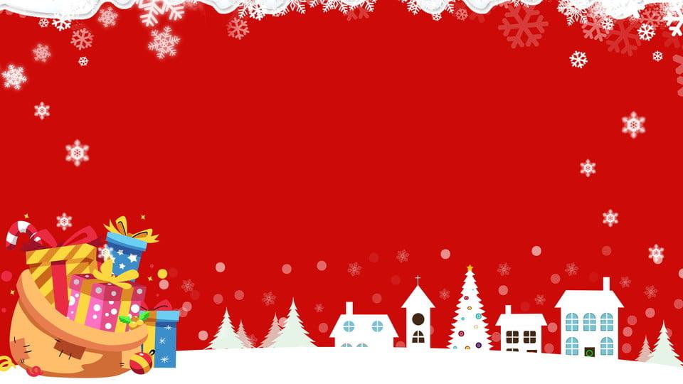 Cute Christmas Background.Cartoon Cute Christmas Snow Snowflake Gift Bag Festive