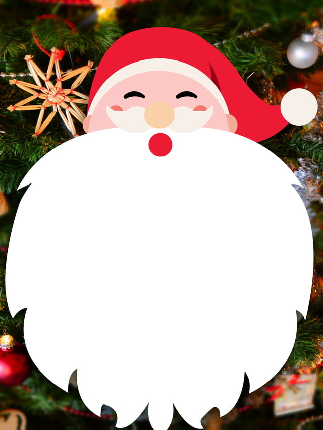 Decorazioni Natalizie Di Cartone.Materiale Di Sfondo Carino Cartone Animato Babbo Natale