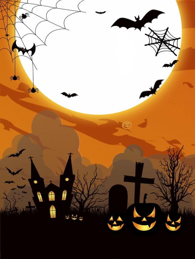 Priorità bassa disegnata a mano di halloween h del fumetto