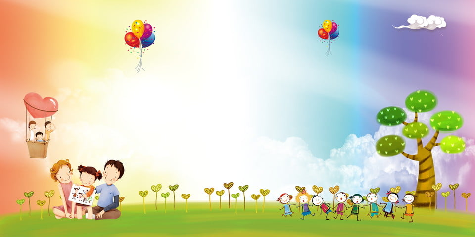 Childrens day art performance background color cartoon color holiday background background - Children s day images download ...