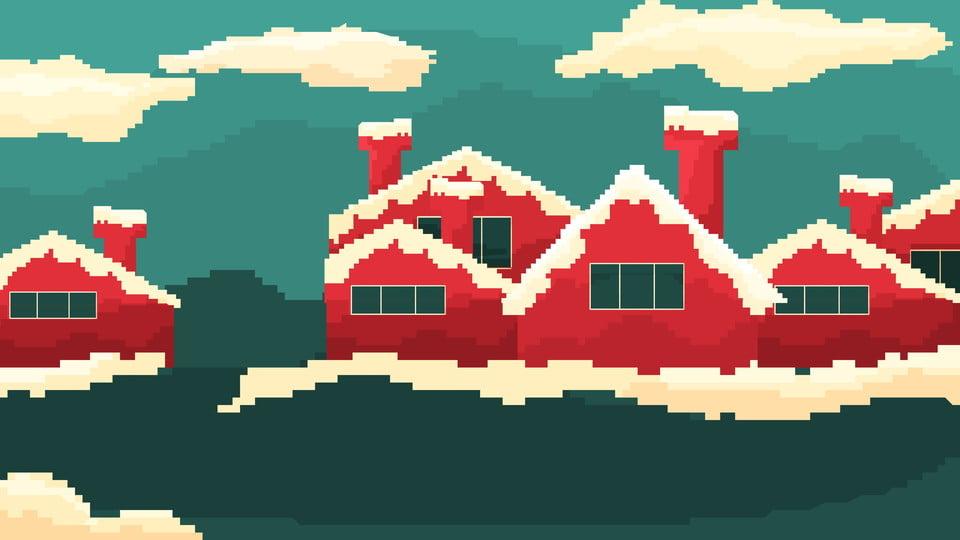 Fond De Style Vintage Pixel Noël 80 De Noël Joyeux Noel