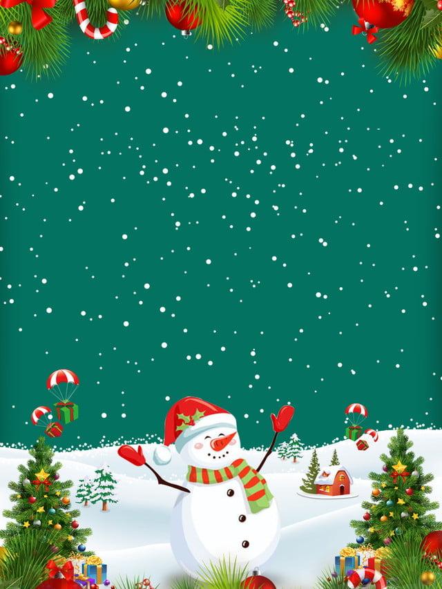 Christmas Carnival Background Design Snow Santa Claus Elk