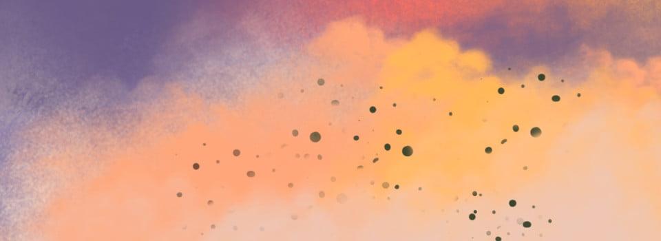 Couleur Peinture éclaboussure Dencre Violet Orange Jaune Fumée
