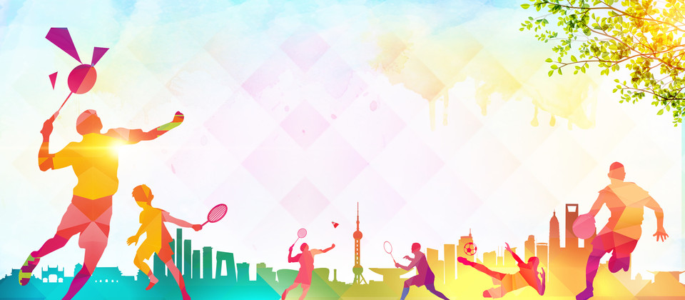 Color Tennis Sport Advertising Background Background