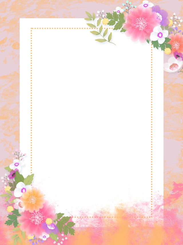 جميل صغير واضح الأدبية الزهور خلفية الحدود خلفية الزهور