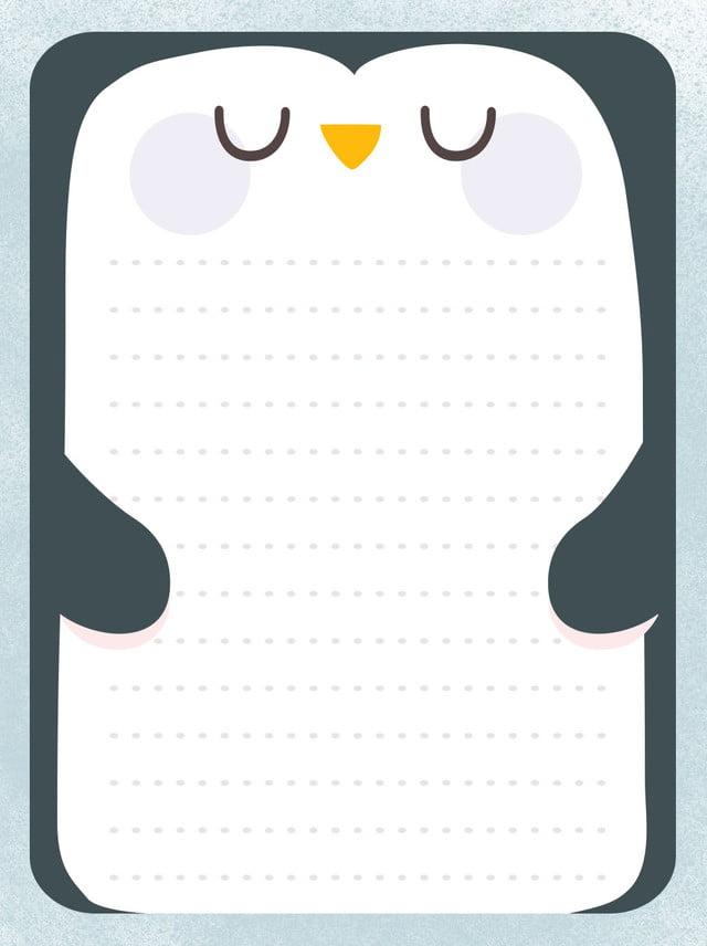 Sfondo di bordo animale carino pinguino cartone animato animale