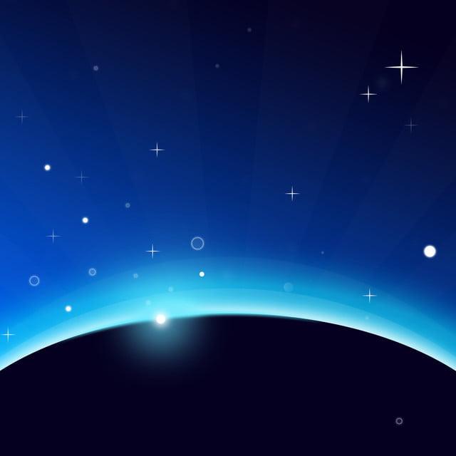Sfondo Di Meteora Scintillante Stellato Blu Scuro Luce Stellare Blu