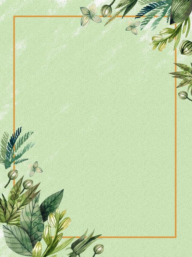 خلفية نبات أخضر داكن الحدود خلفية النبات حدود بسيطة الإطار صورة الخلفية للتحميل مجانا